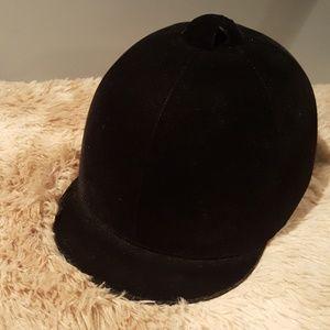 Vintage black velvet equestrian/polo hat